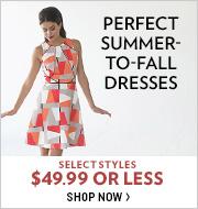 Shop Dresses $49.99 or Less