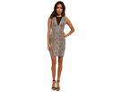 Stretch Python Jacquard Dress with Deep V
