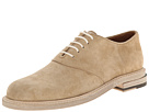 Calf Suede Slipped Heel Saddle Shoe