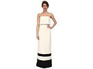 Strapless Gown w/ Stripe Hem