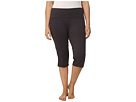 Plus Size High Rise Tummy Control Capris