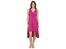 Cotton Modal Spandex Jersey Shirred Empire Hi-Low Dress