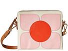 Square Flower Applique Square Poppy Bag
