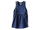 Chambray Denim Jumper Dress with Heart Print & Adjustable Straps (Infant/Toddler)