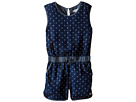 Soft Kennedy Chambray Romper with Bleached Star Design (Toddler/Little Kids/Big Kids)