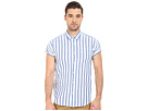 Short Sleeve Shirt in Open Weave with Contrast Inside