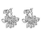 Silver/Crystal Leaf Post Ear Jcket Earrings