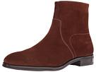 Size Zip Plain Toe Suede Boot