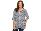 Plus Size Printed Boxy Sweater Top