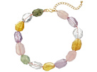 """16"""" Multi Pastel Faceted Stone Necklace"""