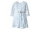Long Sleeve Burnout Dress with Metallic Belt (Infant)