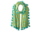 BSS1694 Cotton All Over Banana Print Scarf with Tassels