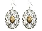 Oval Concho Drop Earrings