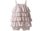 Printed Cotton Tiered Bubble Shortalls (Infant)
