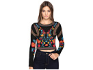Floral Geometric Patterned Top
